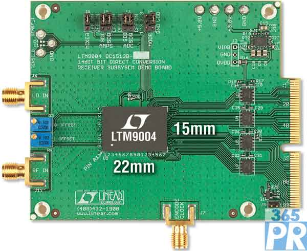 ltm9004-ac低通滤波器在9.42mhz频率下具有一个0